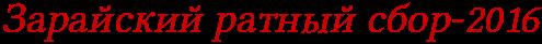 Зарайский ратный сбор-2016